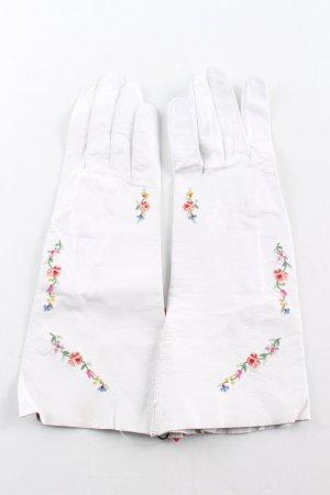 Leather Gloves white casual look