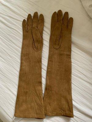 Comptoir des Cotonniers Guantes de cuero marrón claro