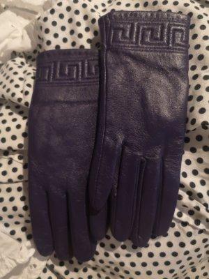lederhandschuhe dunkel lila