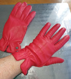 Roeckl Leather Gloves red