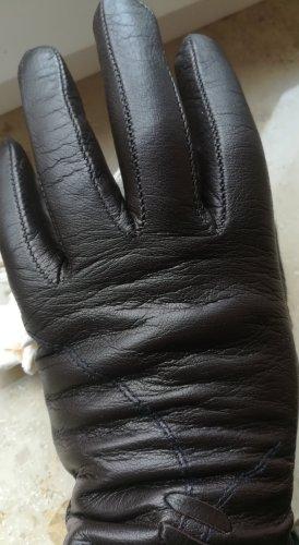 Lederhandschuhe. Farbe Schokolade. Mit dem Futterstoff Wolle   Gr 7 1/2.