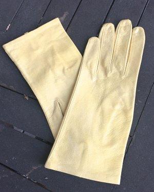 Leren handschoenen sleutelbloem Leer