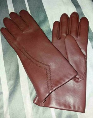 Leather Gloves carmine leather