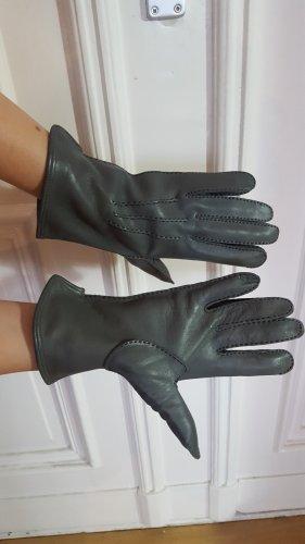 Lederhandschuhe grau