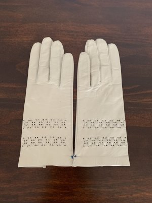 Leather Gloves natural white