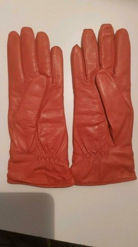 Leather Gloves salmon leather