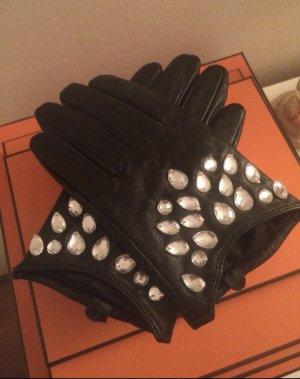 Lederhandschuhe mit Steinchen Letzter Preis