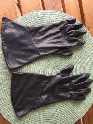 Leren handschoenen donkerblauw