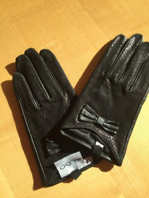 Aldo Leather Gloves black leather