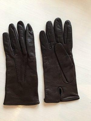 Prada Leather Gloves dark brown