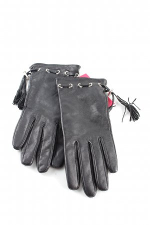 Grimaldi Leather Gloves black casual look