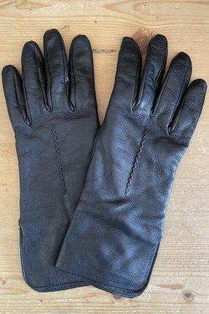 Gants en cuir noir cuir