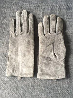 Hallhuber Leren handschoenen grijs