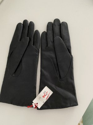 Otto Kessler Guantes de cuero negro