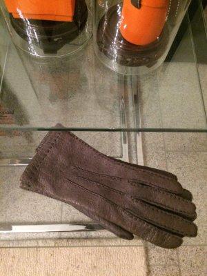 Roeckl Guanto in pelle grigio
