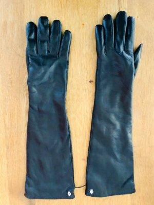 Roeckl Gants en cuir noir-gris brun cuir