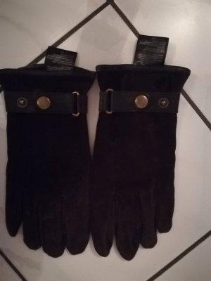 TCM Leren handschoenen donkerbruin-zwart bruin