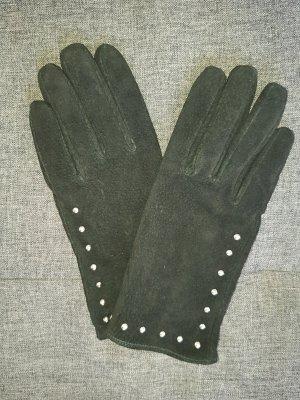 Varese Guantes de cuero negro