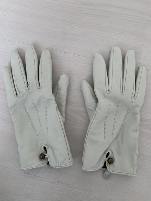 Leather Gloves white