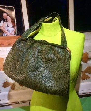 Vintage Handbag forest green-dark green leather