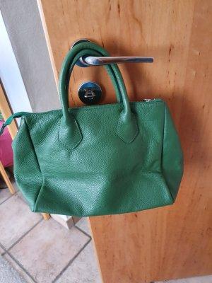 Lederhandtasche, grün, wie neu