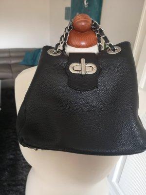 Lederhandtasche made in Italy schwarz