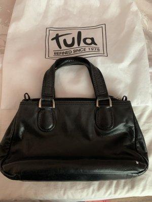 Lederhandtasche von Tula in schwarz, unbenutzt