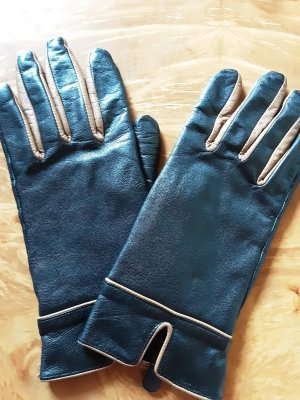 Leather Gloves black-brown leather