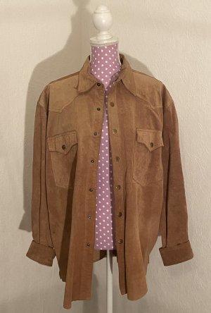 John F. Gee Leather Shirt beige-camel