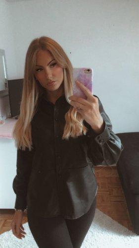 H&M Leather Shirt black