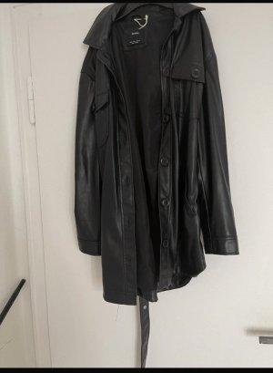 / Chemise en cuir noir
