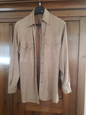 Leather Shirt beige leather