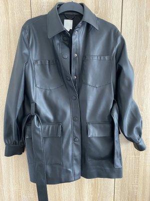 H&M Chemise en cuir noir