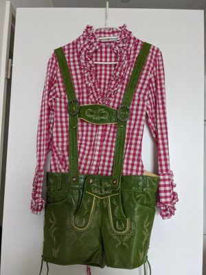 Angermaier Pantalon en cuir vert