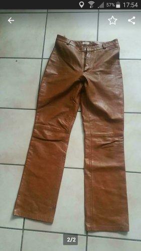 Stefanel Pantalon en cuir cognac