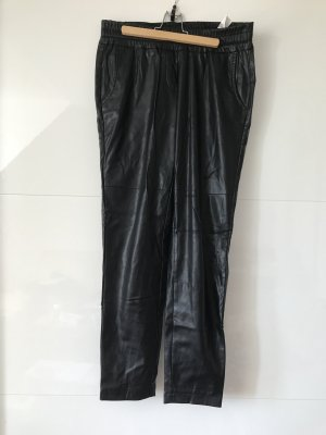 Cambio Faux Leather Trousers black polyamide