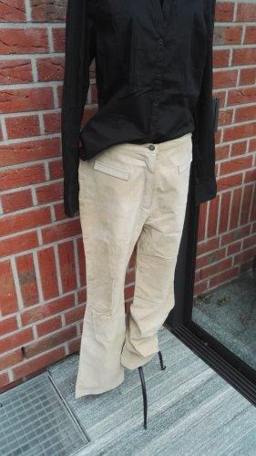 Pantalón de cuero marrón arena