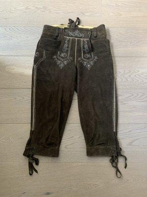 Meindl Pantalone in pelle tradizionale marrone scuro