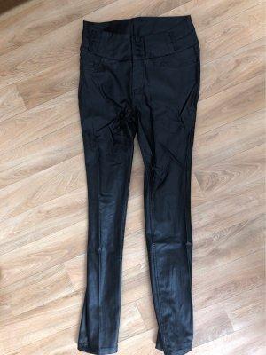 Janina Leather Trousers black