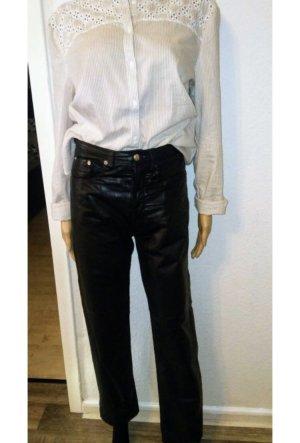 1234 Pantalón de cuero negro