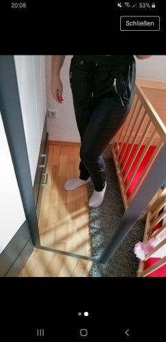 100 Pantalone in pelle nero