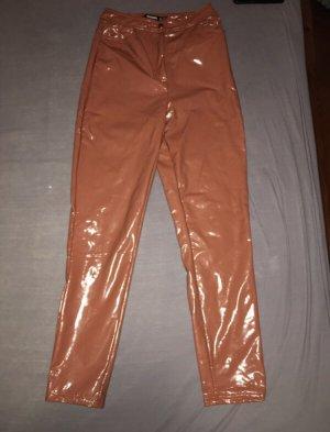 Missguided Pantalone in pelle ruggine-color carne