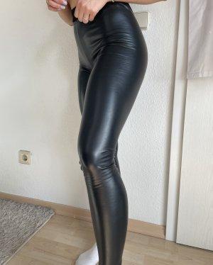 Asos Leren broek zwart