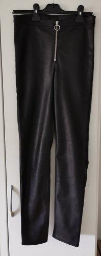 Devided von H&M Pantalone in pelle nero