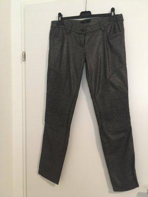 Denny Rose Pantalón de cuero gris antracita