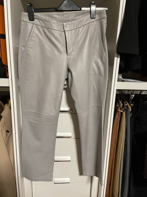 Leather Trousers silver-colored-light grey