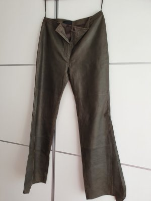 Mauritius Leather Trousers dark green leather