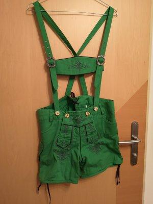 Katie Lampe Zillertaler Trachtenwelt Traditionele leren broek donkerpaars-groen