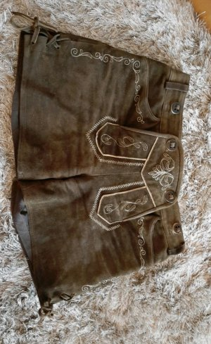 Spieth & Wensky Traditional Leather Trousers brown