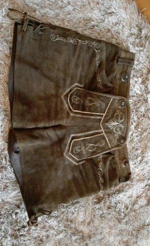 Spieth & Wensky Pantalone in pelle tradizionale marrone